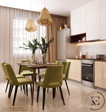 Квартира. кухня из проекта Гармония роскоши и природы в ЖК Татьянин Парк, фото №93808
