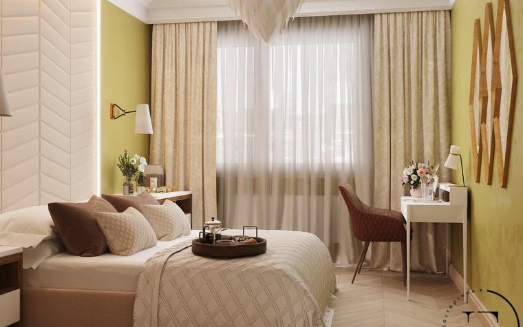 Квартира. спальня из проекта Гармония роскоши и природы в ЖК Татьянин Парк, фото №93813