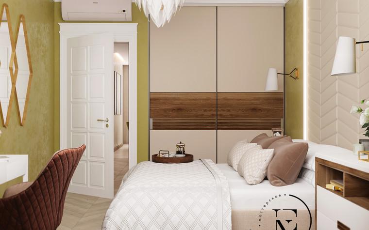 Квартира. спальня из проекта Гармония роскоши и природы в ЖК Татьянин Парк, фото №93815