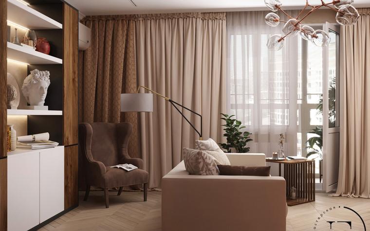Квартира. гостиная из проекта Гармония роскоши и природы в ЖК Татьянин Парк, фото №93799