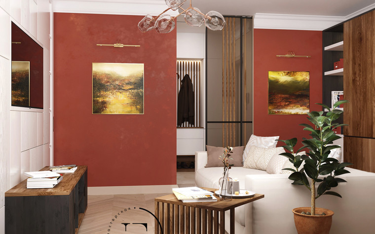 Квартира. гостиная из проекта Гармония роскоши и природы в ЖК Татьянин Парк, фото №93800