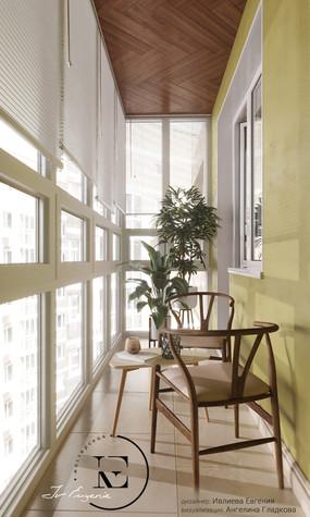 Квартира. веранда лоджия из проекта Гармония роскоши и природы в ЖК Татьянин Парк, фото №93805