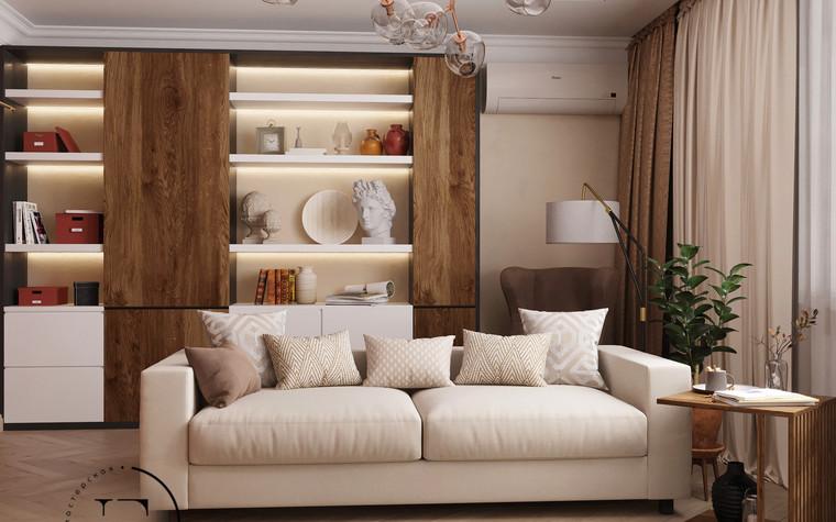 Квартира. гостиная из проекта Гармония роскоши и природы в ЖК Татьянин Парк, фото №93798