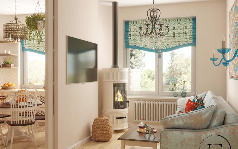 Квартира. гостиная из проекта Восток и Средиземноморье в ЖК Мишино, фото №93860