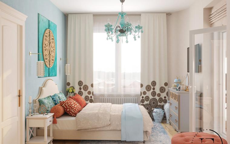 Квартира. спальня из проекта Восток и Средиземноморье в ЖК Мишино, фото №93879