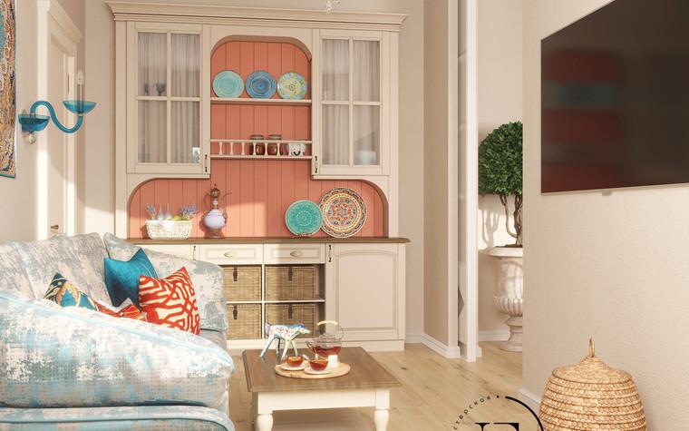 Квартира. гостиная из проекта Восток и Средиземноморье в ЖК Мишино, фото №93859