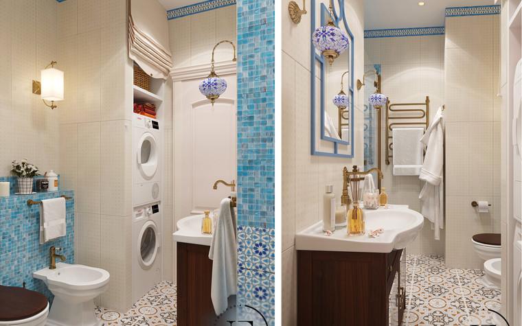 Квартира. ванная из проекта Восток и Средиземноморье в ЖК Мишино, фото №93855