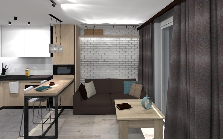Квартира. кухня из проекта ЖК Панорама лофт,рок и любовь, фото №94589