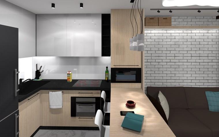 Квартира. кухня из проекта ЖК Панорама лофт,рок и любовь, фото №94590