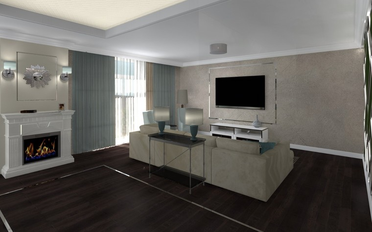 Квартира. гостиная из проекта Белый росы Современная классика, фото №94697