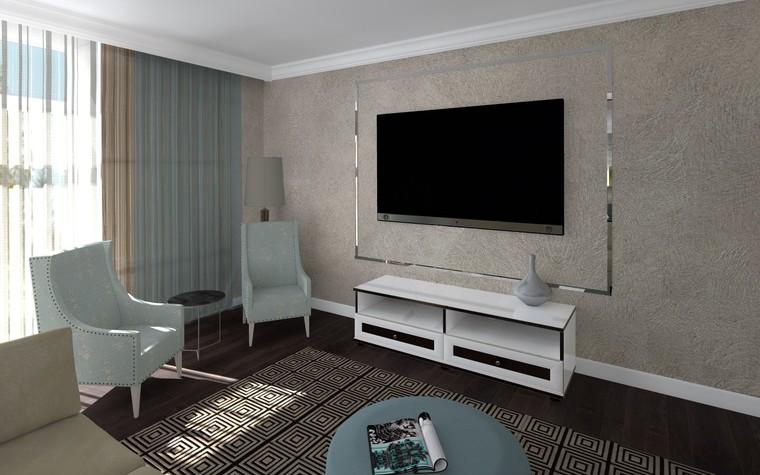 Квартира. гостиная из проекта Белый росы Современная классика, фото №94698