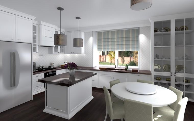 Квартира. кухня из проекта Белый росы Современная классика, фото №94699