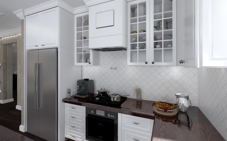 Квартира. кухня из проекта Белый росы Современная классика, фото №94700