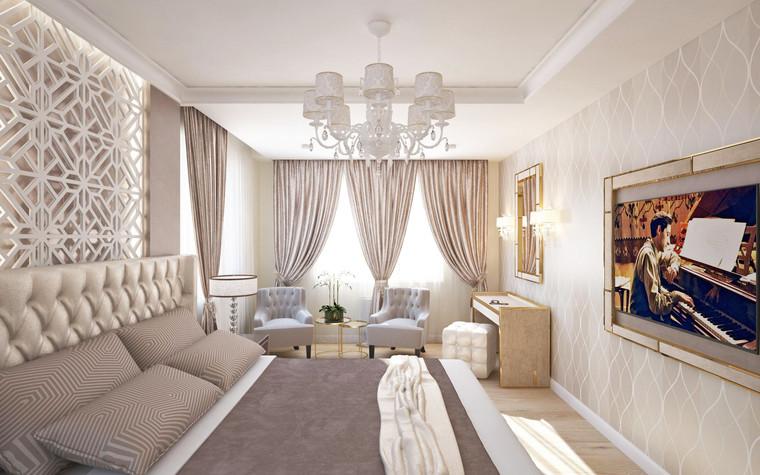 Квартира. спальня из проекта Семейная идиллия, фото №94716