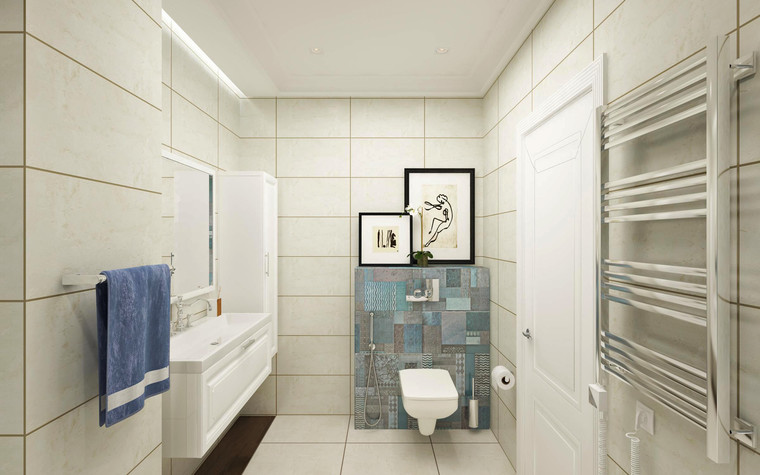 Квартира. ванная из проекта Семейная идиллия, фото №94737