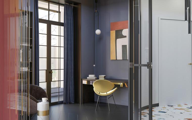 Квартира. гостиная из проекта Квартира в ЖК 5 Звезд, фото №95107