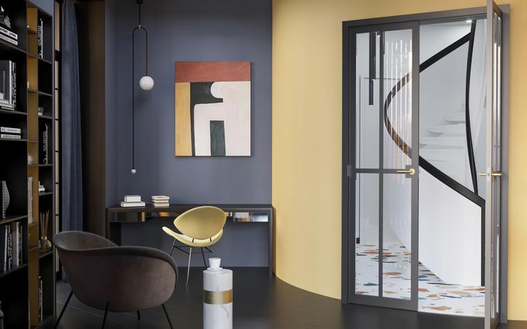 Квартира. гостиная из проекта Квартира в ЖК 5 Звезд, фото №95109