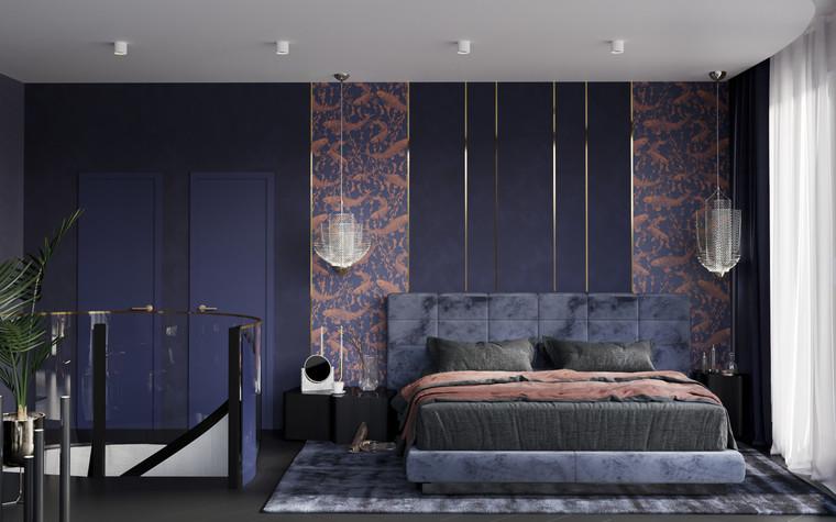 Квартира. спальня из проекта Квартира в ЖК 5 Звезд, фото №95117