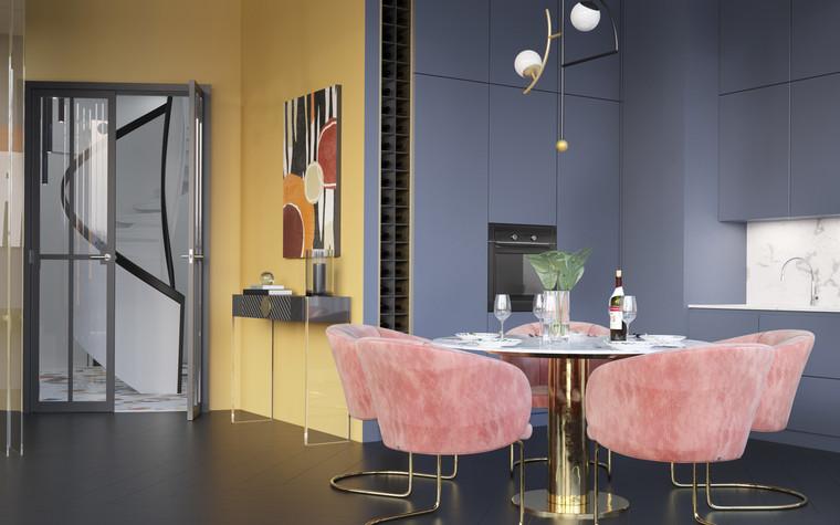 Квартира. кухня из проекта Квартира в ЖК 5 Звезд, фото №95099