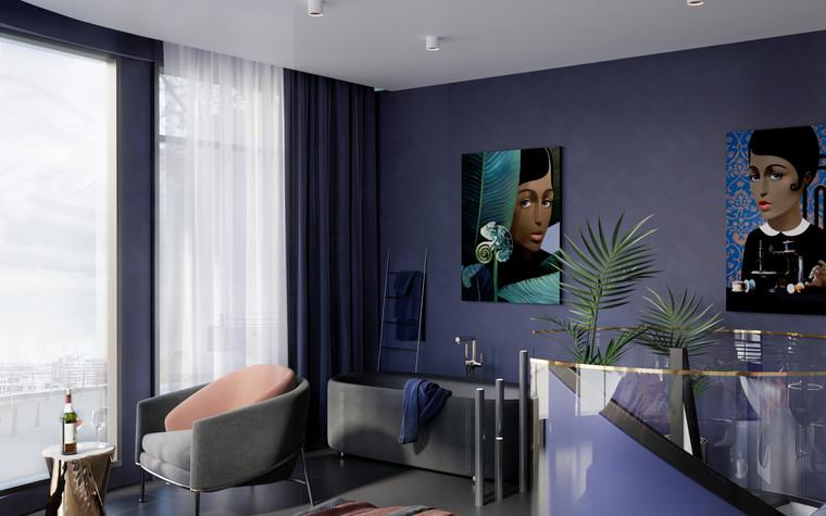 Квартира. спальня из проекта Квартира в ЖК 5 Звезд, фото №95119