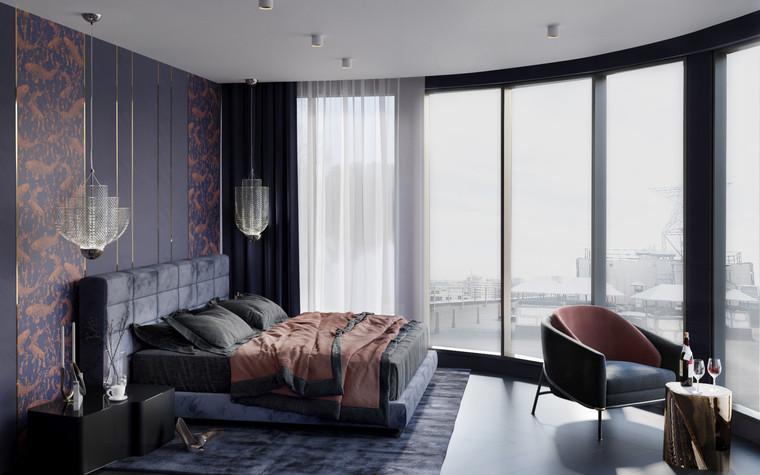Квартира. спальня из проекта Квартира в ЖК 5 Звезд, фото №95123
