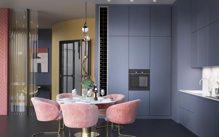 Квартира. кухня из проекта Квартира в ЖК 5 Звезд, фото №95100