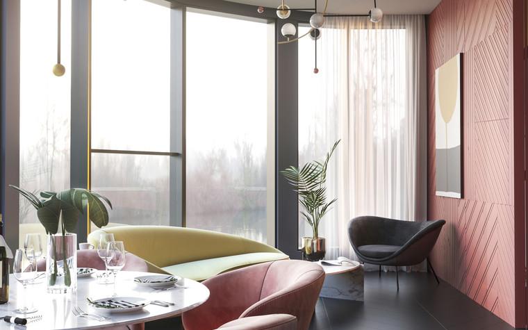 Квартира. гостиная из проекта Квартира в ЖК 5 Звезд, фото №95103