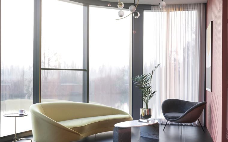 Квартира. гостиная из проекта Квартира в ЖК 5 Звезд, фото №95105
