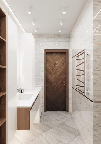 Квартира. ванная из проекта Современная квартира для молодой семьи, фото №95455