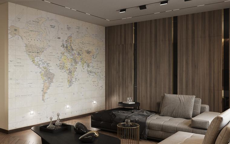 Квартира. гостиная из проекта Современная квартира для молодой семьи, фото №95450