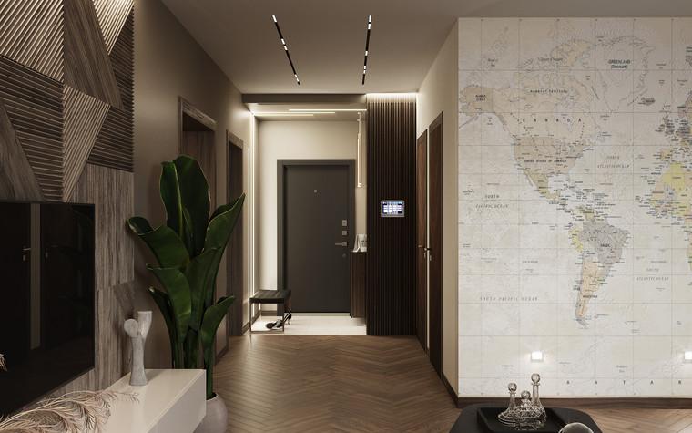 Квартира. гостиная из проекта Современная квартира для молодой семьи, фото №95451