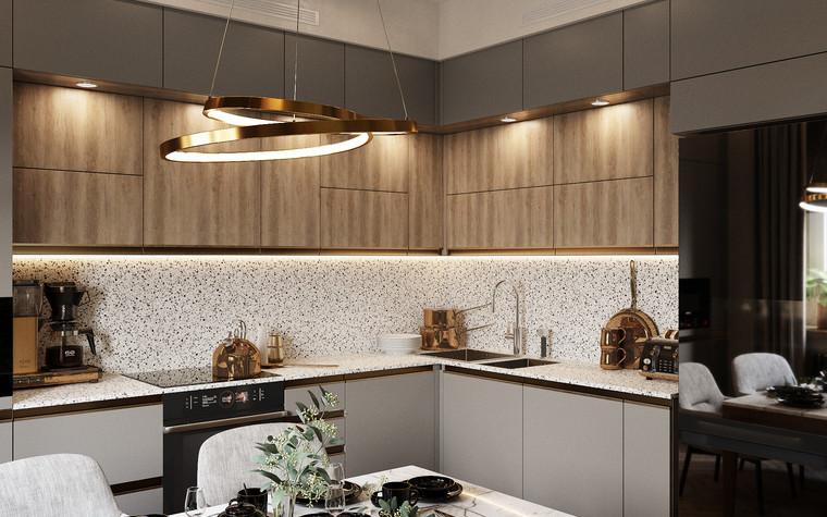 Квартира. кухня из проекта Современная квартира для молодой семьи, фото №95459
