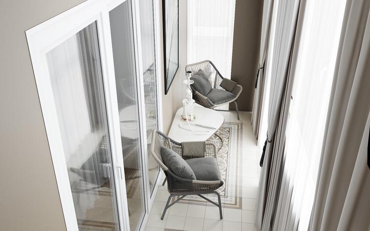 Квартира. веранда лоджия из проекта Современная квартира для молодой семьи, фото №95479