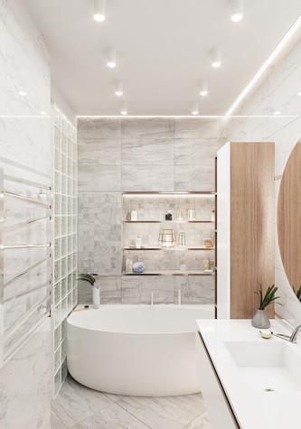 Квартира. ванная из проекта Современная квартира для молодой семьи, фото №95453