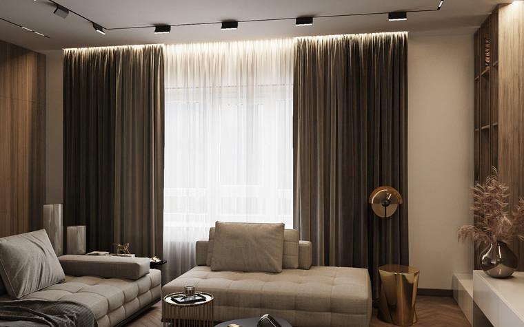 Квартира. гостиная из проекта Современная квартира для молодой семьи, фото №95448
