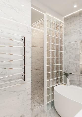 Квартира. ванная из проекта Современная квартира для молодой семьи, фото №95454