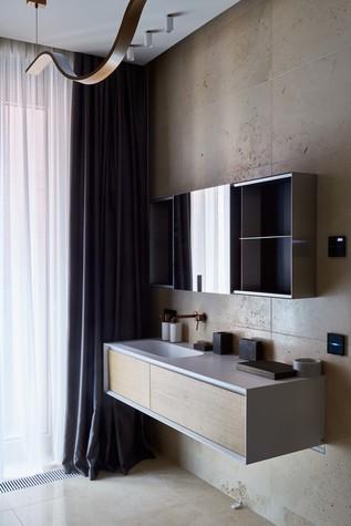 Квартира. ванная из проекта Природа в доме, фото №98179