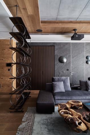 Квартира. гостиная из проекта Природа в доме, фото №98163