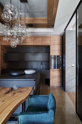 Квартира. кухня из проекта Природа в доме, фото №98186