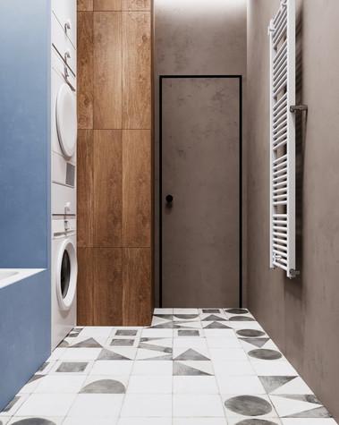 Квартира. ванная из проекта Сочный лофт, фото №98594