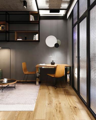 Квартира. гостиная из проекта Сочный лофт, фото №98598