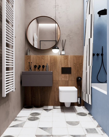 Квартира. ванная из проекта Сочный лофт, фото №98595