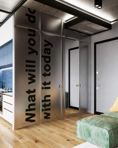 Квартира. прихожая из проекта Сочный лофт, фото №98596