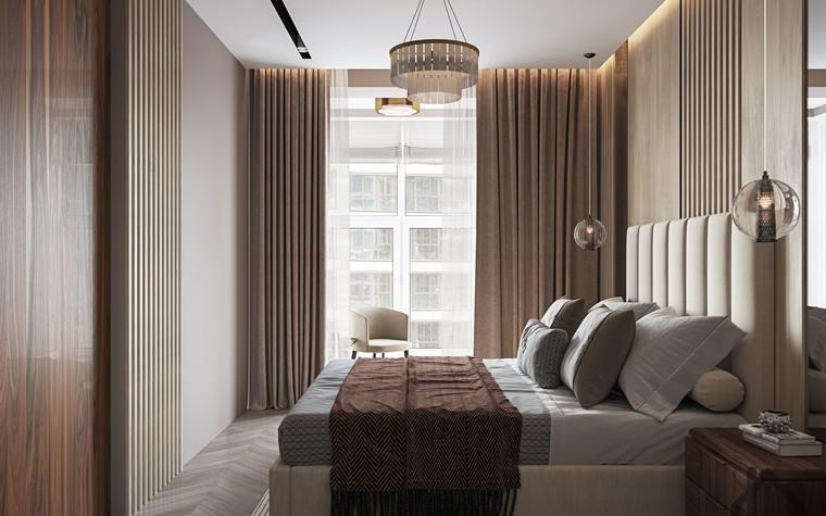 Квартира. спальня из проекта ЖК Лайнер, фото №98618