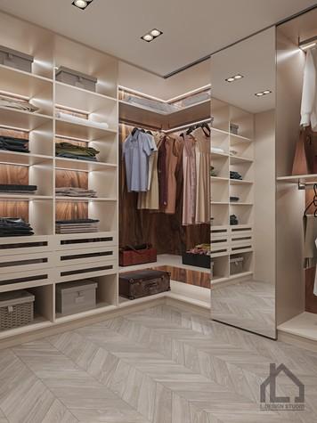 Квартира. гардеробная из проекта ЖК Лайнер, фото №98620