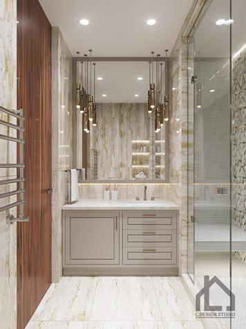 Квартира. ванная из проекта ЖК Лайнер, фото №98623