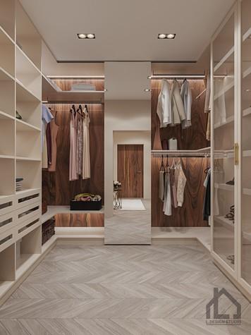 Квартира. гардеробная из проекта ЖК Лайнер, фото №98621