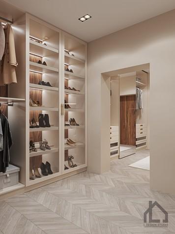 Квартира. гардеробная из проекта ЖК Лайнер, фото №98622