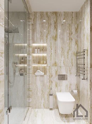 Квартира. ванная из проекта ЖК Лайнер, фото №98624