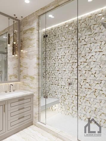 Квартира. ванная из проекта ЖК Лайнер, фото №98626